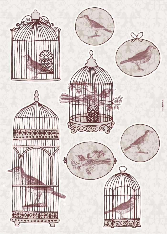 Wandtattoo Bird Cage