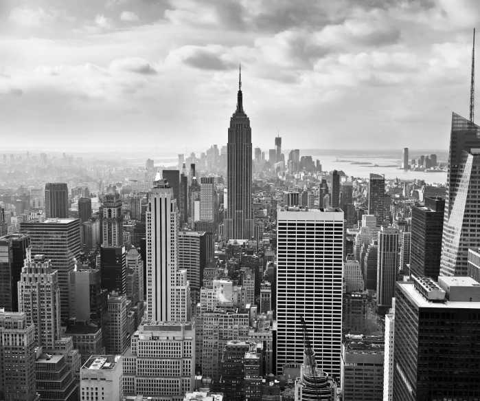 Digitaldrucktapete NYC Black and White