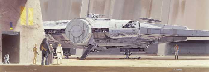 Fototapete Star Wars Classic RMQ Millenium Falcon