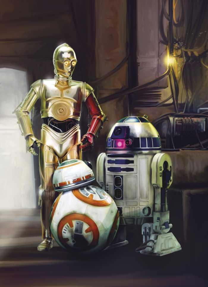 Fototapete Star Wars Three Droids