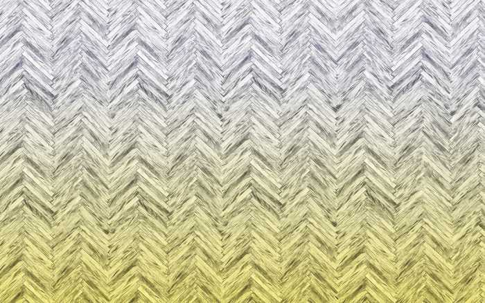 Digitaldrucktapete Herringbone Yellow