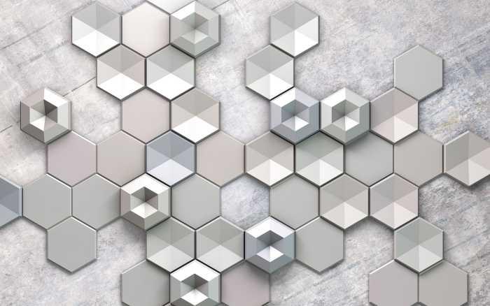 Digitaldrucktapete Hexagon Concrete