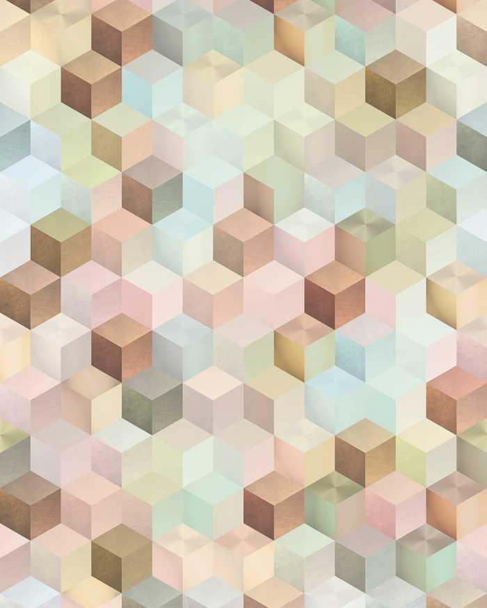 Digitaldrucktapete Cubes