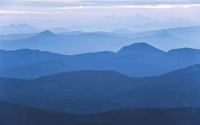 Digitaldrucktapete Blue Mountain