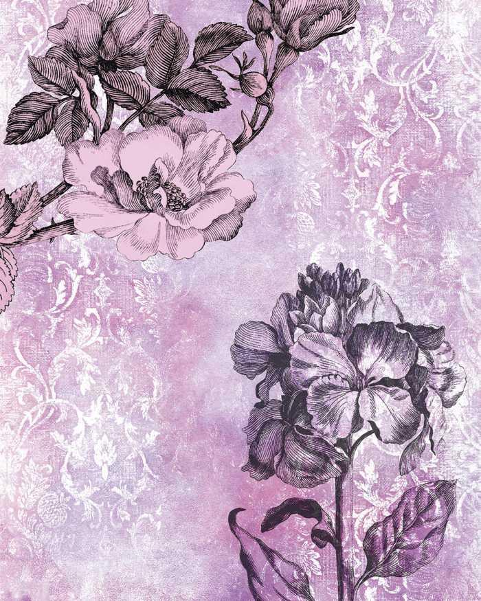 Digitaldrucktapete Baroque Pink