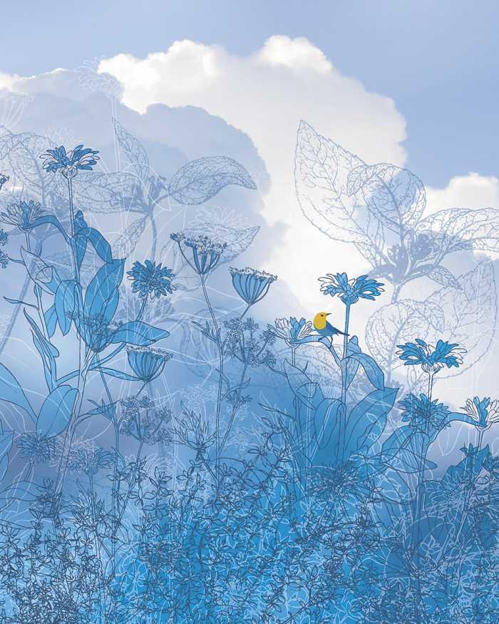 Digitaldrucktapete Blue Sky