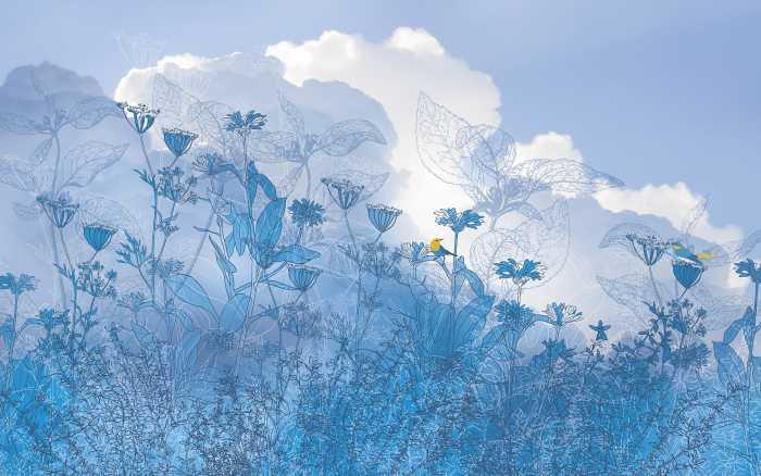 Digitaldrucktapete Blue Sky II