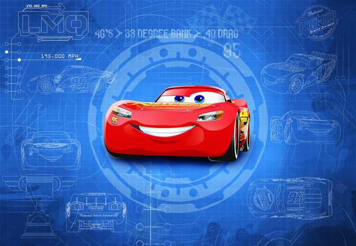 Fototapete Cars3 Blueprint