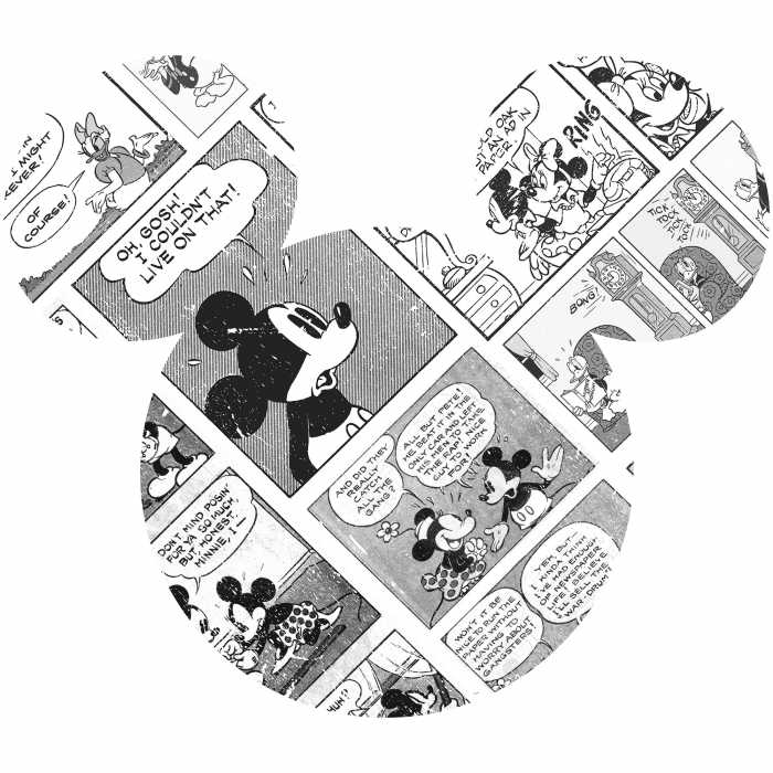 Wandtattoo Mickey Head Comic Cartoon