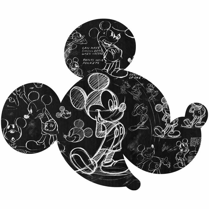 Wandtattoo Mickey Head Illustration