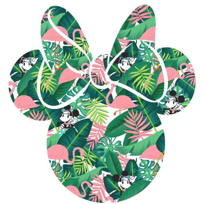 Wandtattoo Minnie Head Tropical