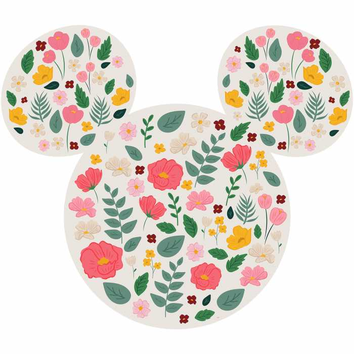 Wandtattoo Mickey Head Wildflowers