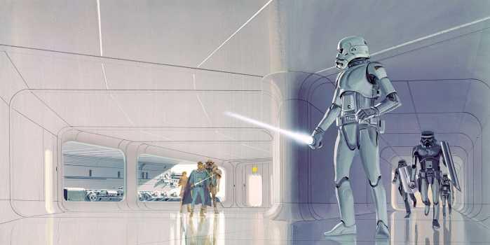 Digitaldrucktapete Star Wars Classic RMQ Stormtrooper Hallway