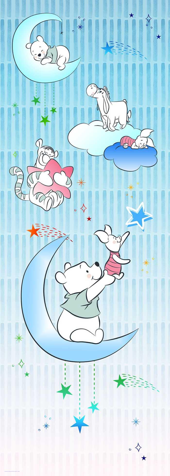 Digitaldrucktapete Winnie Pooh Piglet and Stars