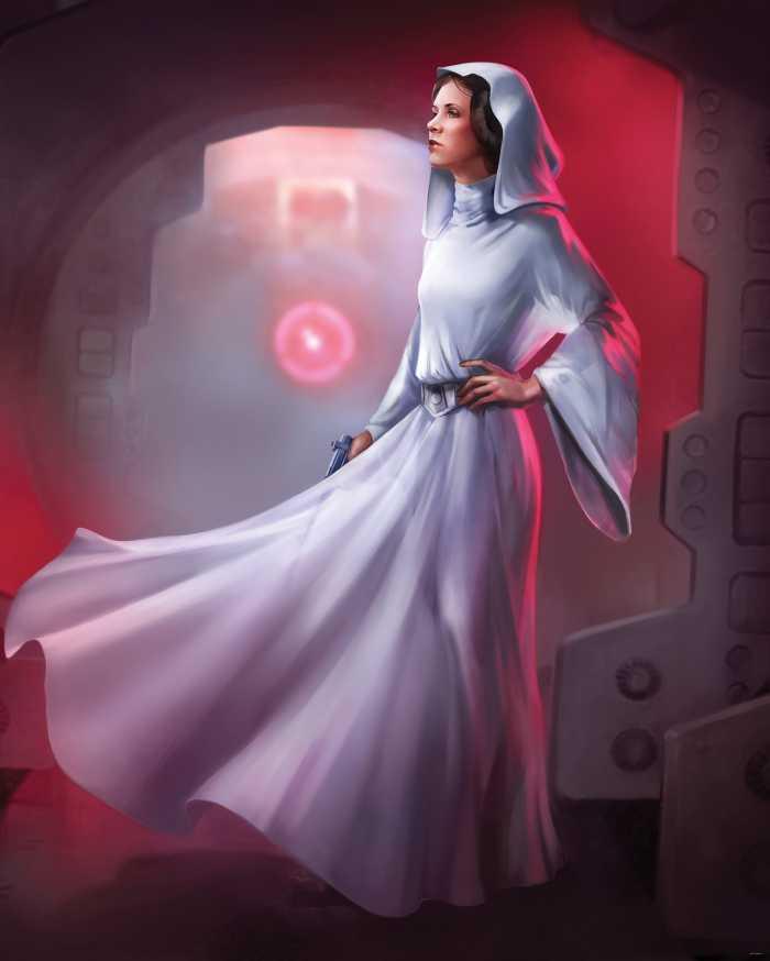Digitaldrucktapete Star Wars Classic Leia