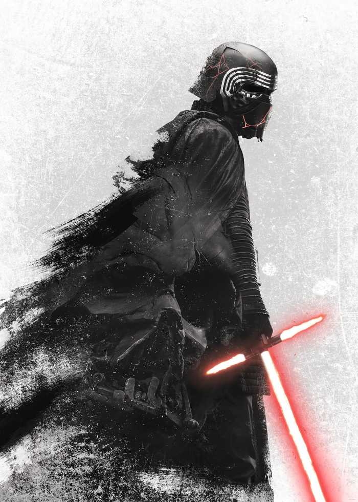 Digitaldrucktapete Star Wars Kylo Vader Shadow