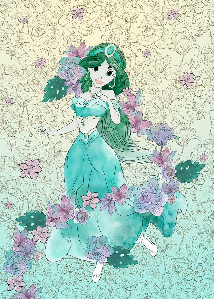 Digitaldrucktapete Jasmin Pale Flowers