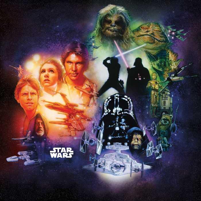Digitaldrucktapete Star Wars Classic Poster Collage