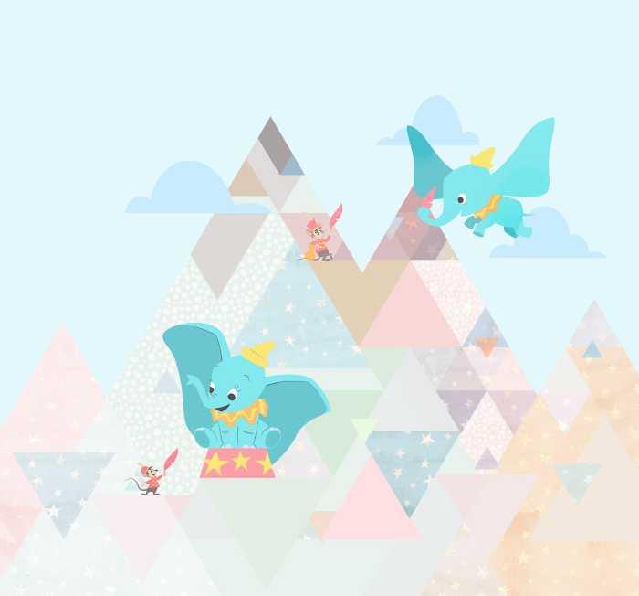 Digitaldrucktapete Dumbo flying elephant