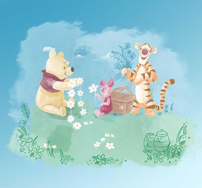 Digitaldrucktapete Winnie Pooh Picnic