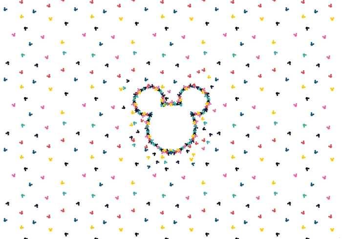 Digitaldrucktapete Mickey Heads-Up