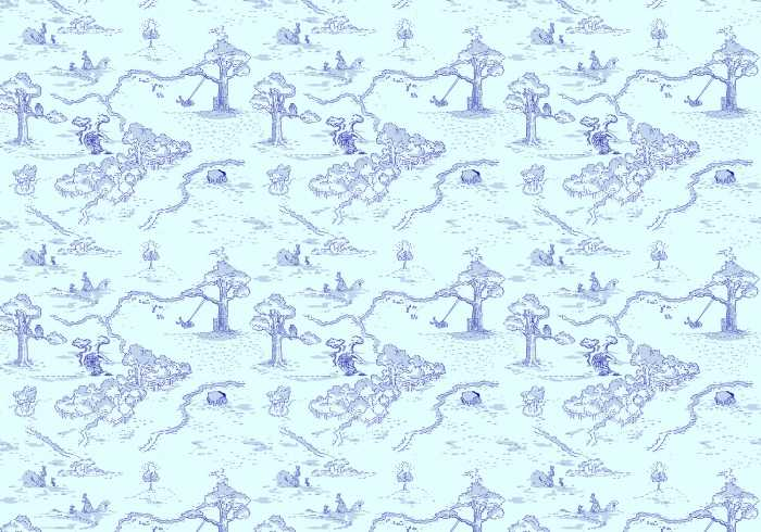 Digitaldrucktapete Winnie Pooh Pat