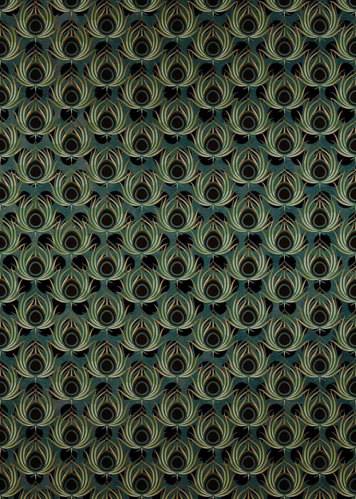 Digitaldrucktapete Paon Vert