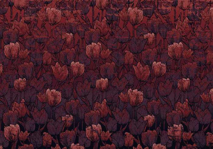 Digitaldrucktapete Tulipe