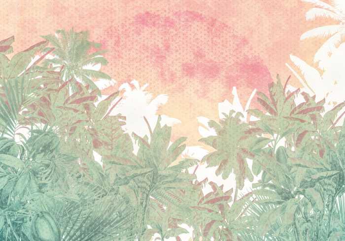 Digitaldrucktapete Palmiers