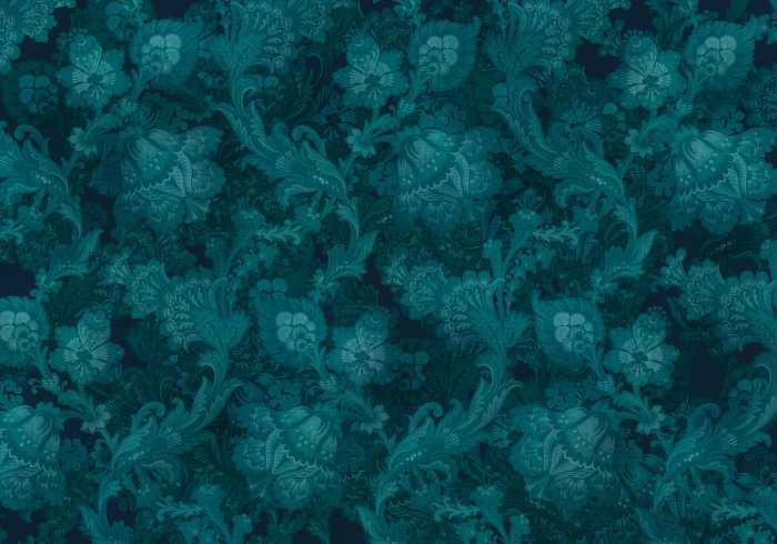 Digitaldrucktapete Fleurs de Nuit