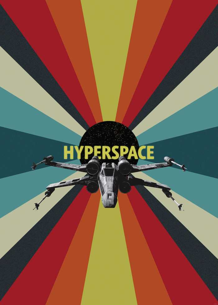 Digitaldrucktapete Star Wars Hyperspace