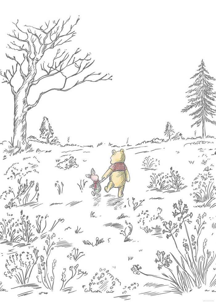 Digitaldrucktapete Winnie Pooh Walk