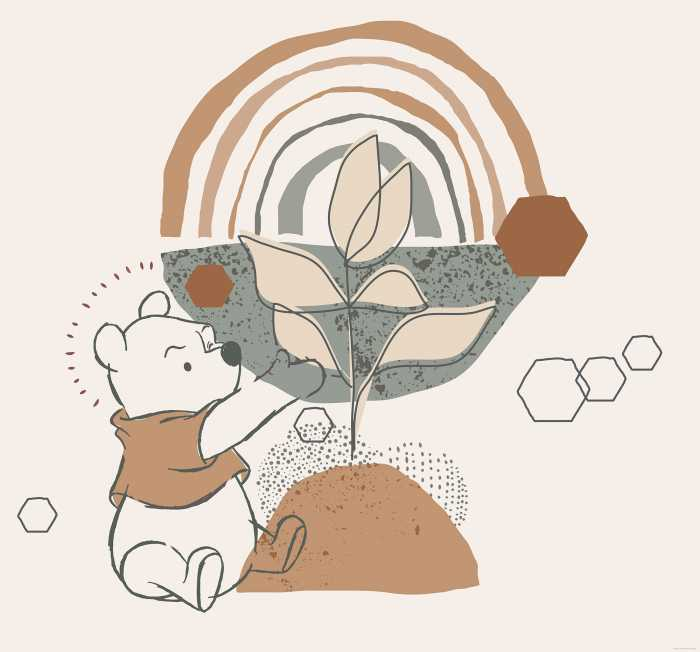 Digitaldrucktapete Winnie Pooh Grow