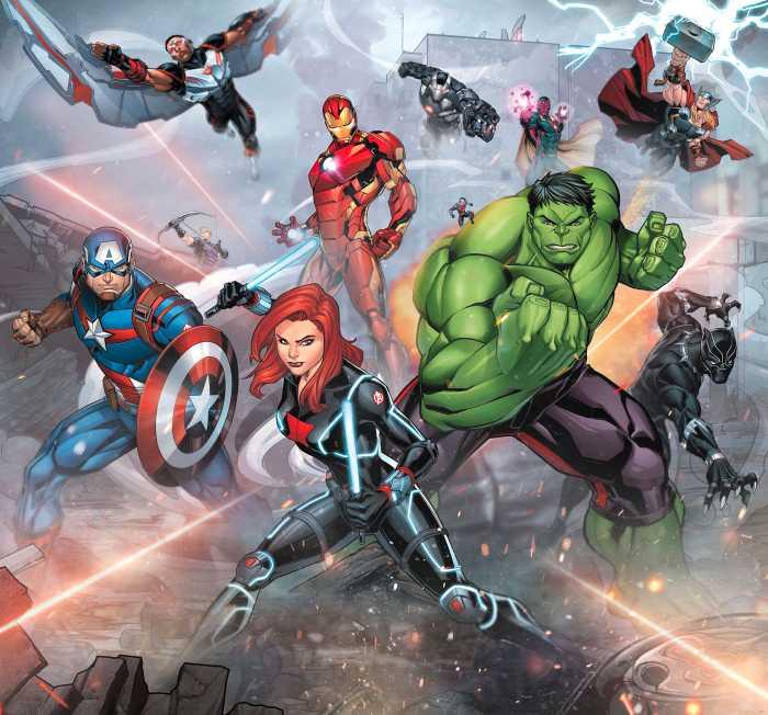 Digitaldrucktapete Avengers Street Revenge