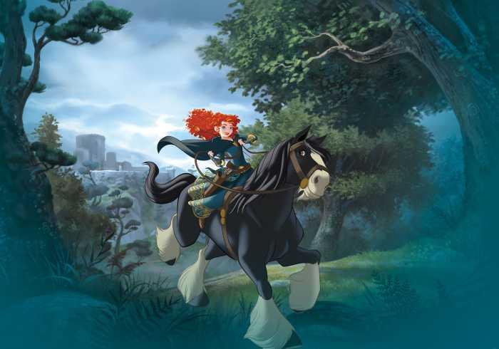 Digitaldrucktapete Merida Riding
