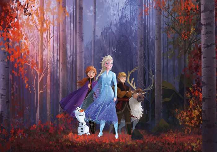 Digitaldrucktapete Frozen Autumn Glade
