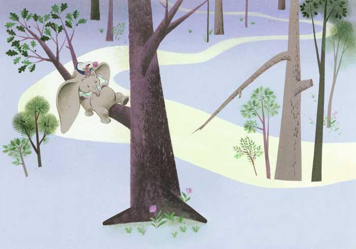 Digitaldrucktapete Dumbo Sleep on Tree