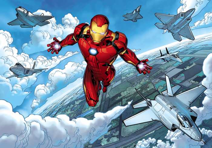 Digitaldrucktapete Iron Man Flight