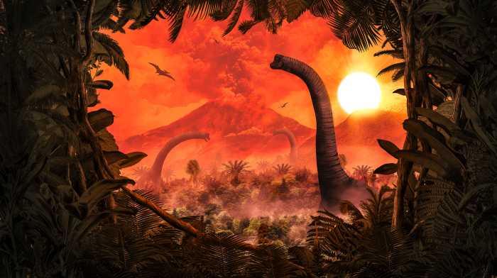 Digitaldrucktapete Brachiosaurus Panorama