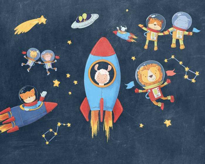 Digitaldrucktapete Friends in Space