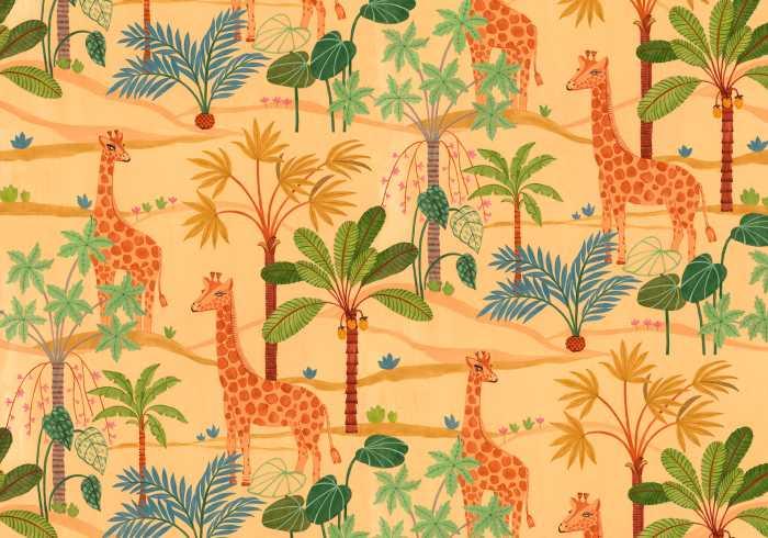Digitaldrucktapete Giraffe Crew