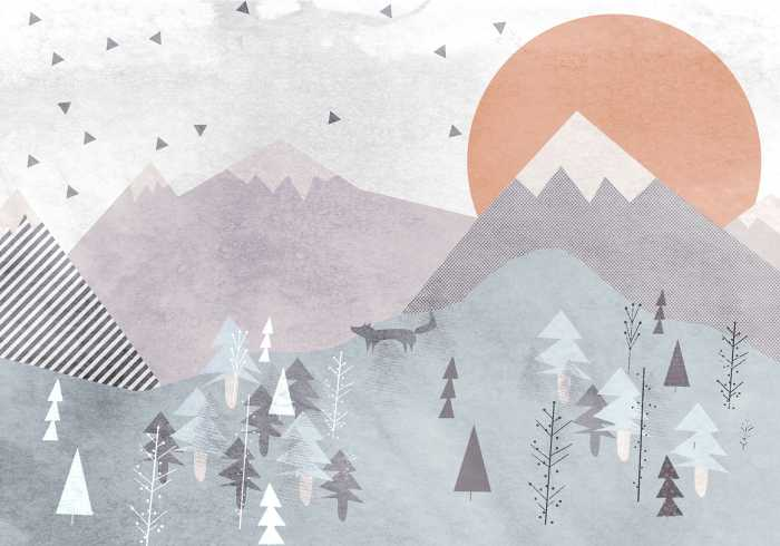 Digitaldrucktapete Fox Journey