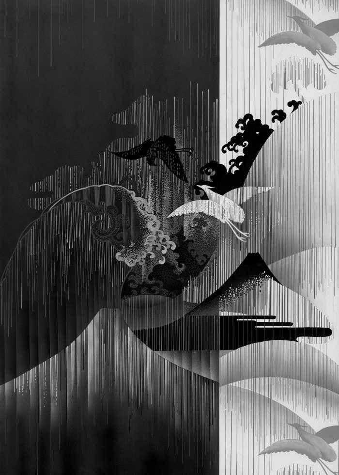 Digitaldrucktapete Yin Yang