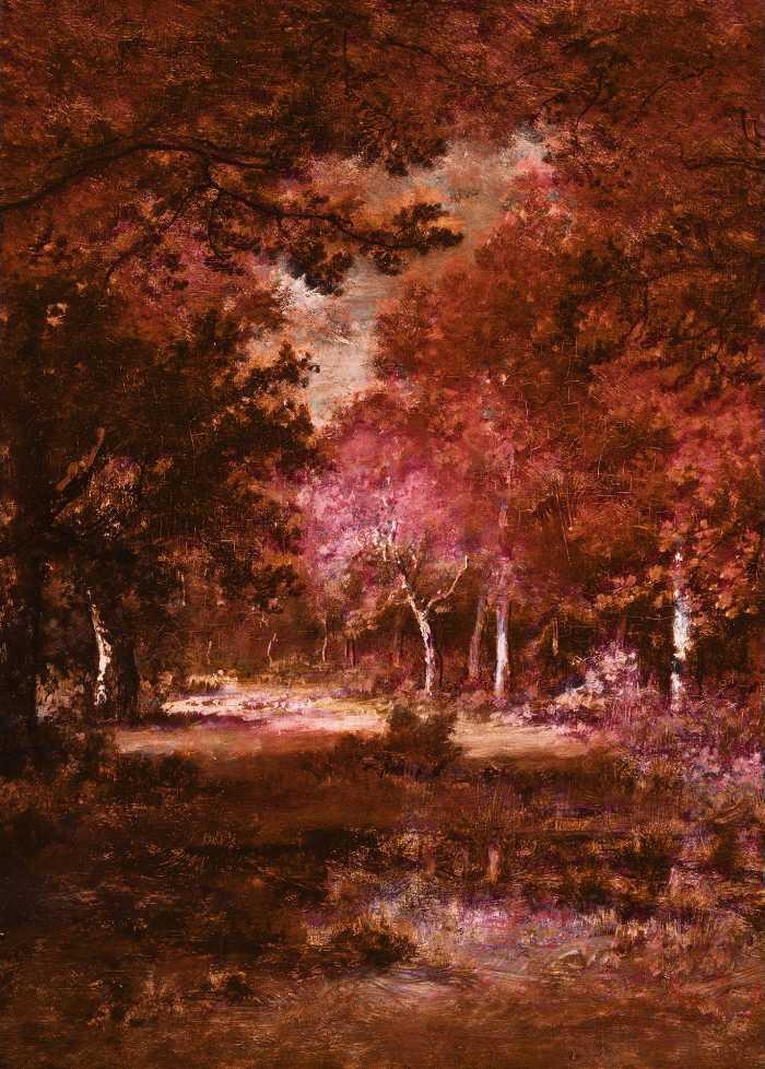 Digitaldrucktapete Autumna rosso