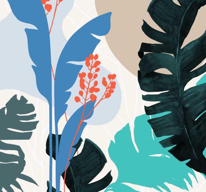 Digitaldrucktapete Tropical Shapes