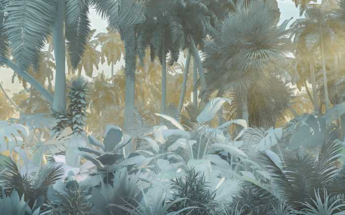 Digitaldrucktapete Misty Jungle