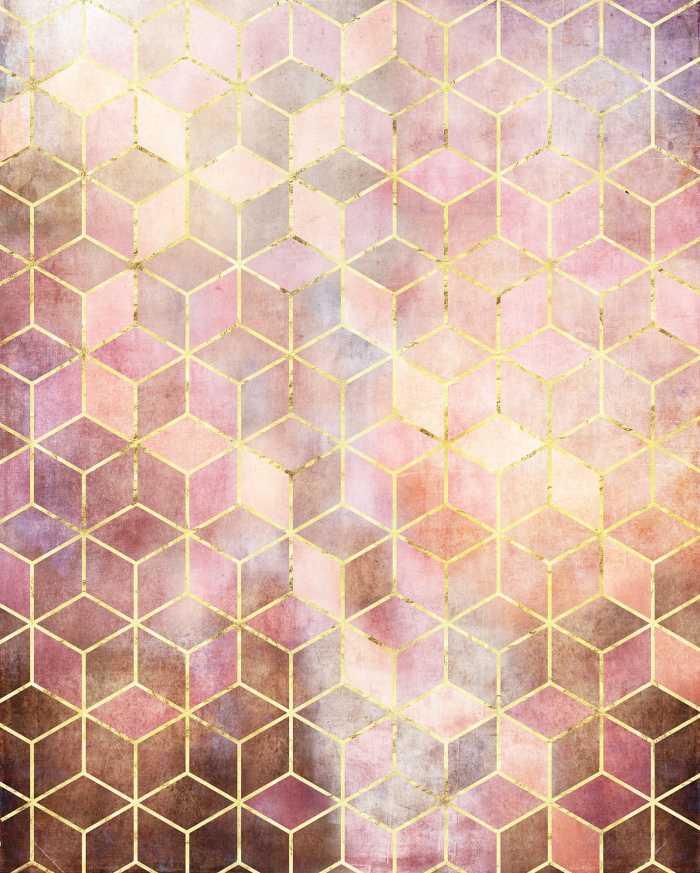 Digitaldrucktapete Mosaik Rosso