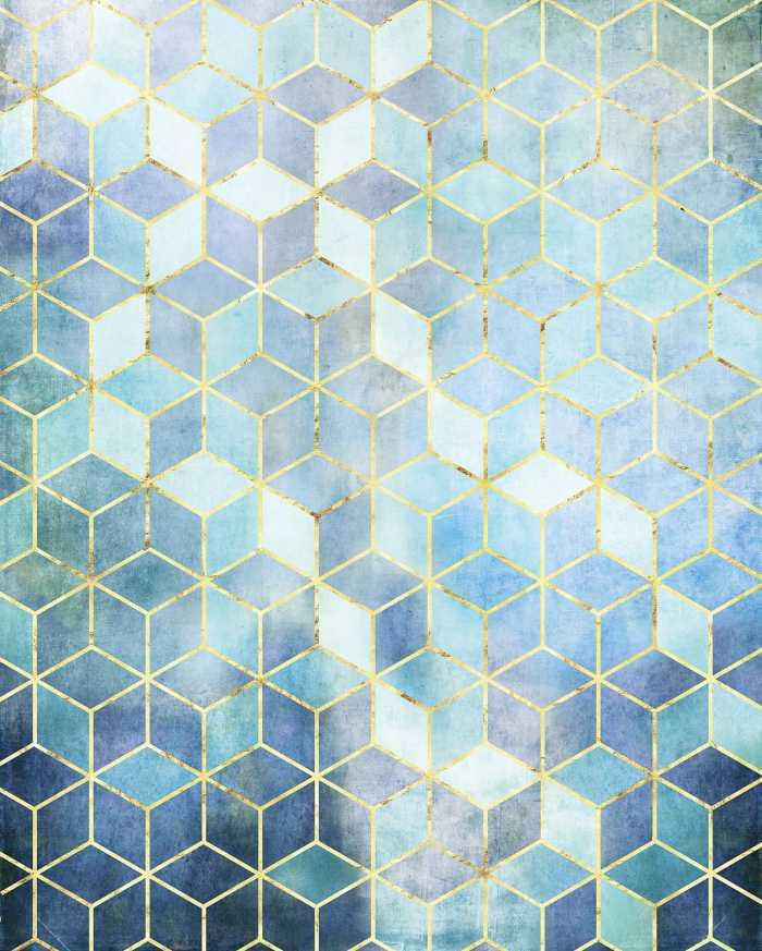 Digitaldrucktapete Mosaik Azzuro