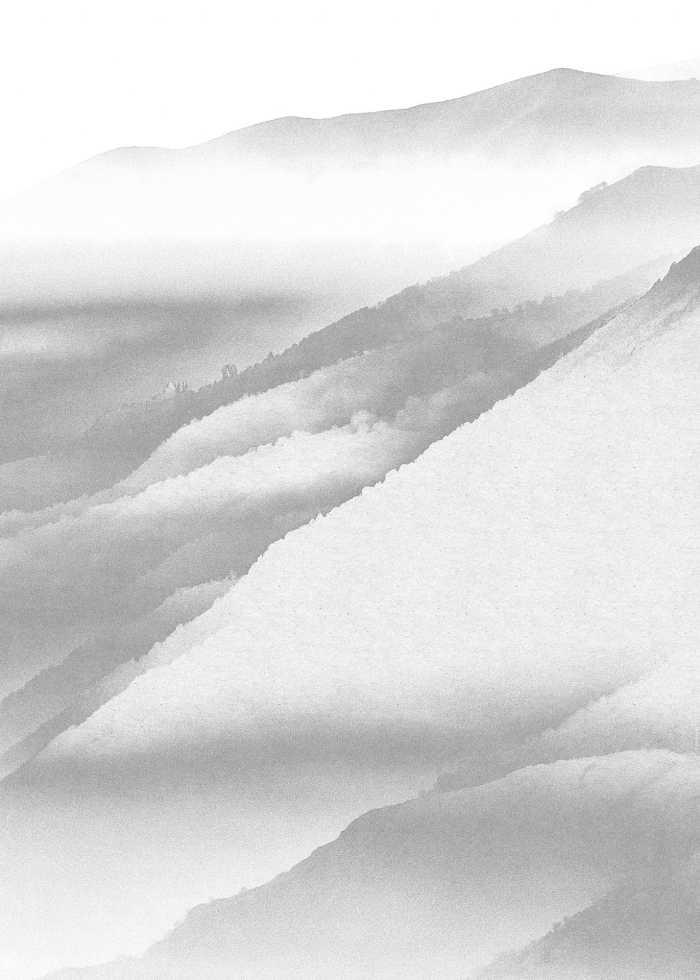 Digitaldrucktapete White Noise Mountain