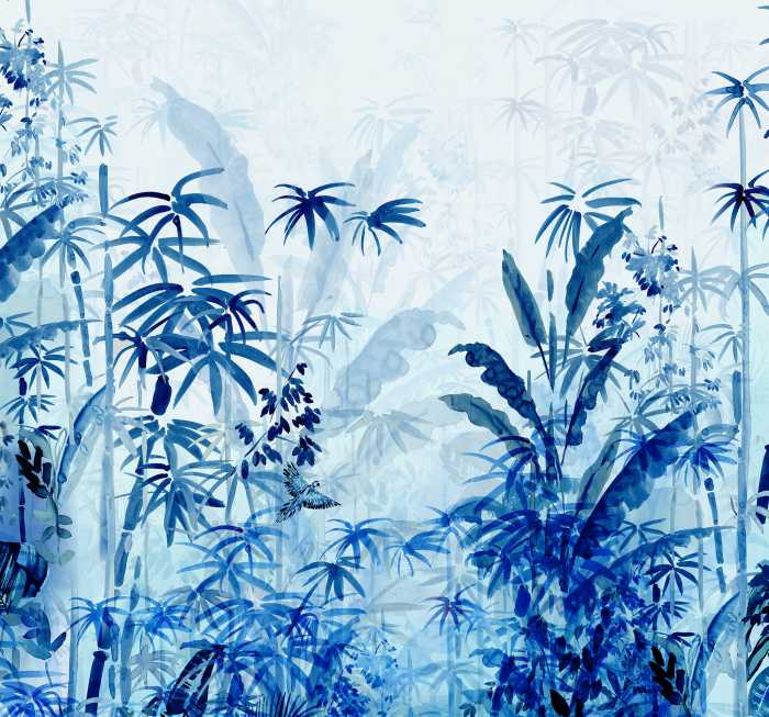 Digitaldrucktapete Blue Jungle